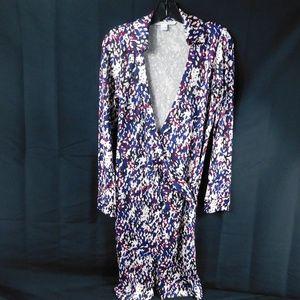 DVF Floral Wrap Dress Size 4